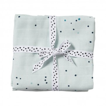 Done by Deer - Komplet tetra pelena - Dreamy dots, blue