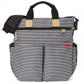 Torba za previjanje - Duo Signature Black/White Stripe